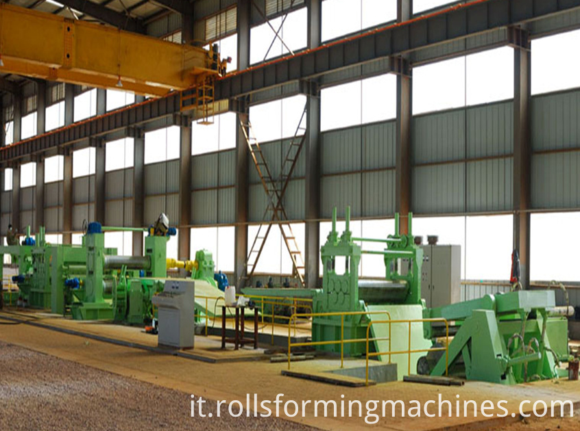 Metal slitting production line