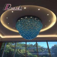 Moderner blauer Art-Hotel-dekorativer großer Kristallleuchter