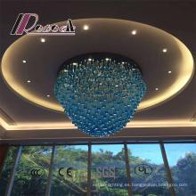 Modern Blue Style Hotel Decorative Large Crystal Chandelier