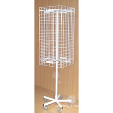 Height Adjustable Floor Revolving Wire Mesh Stand (PHY265)