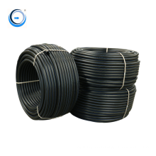 100% pure material pe black plastic hdpe pipes for water system