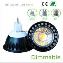 Dimmable 5W MR16 negro COB LED de luz