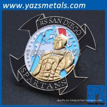 Fabricante de cuerpo de marino personalizada cuerpo de metal de la moneda