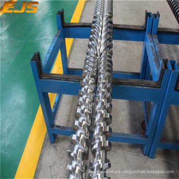 barril gemelo paralelo del tornillo para extrusoras de plástico con precio competitivo