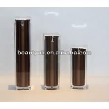Luxury Square Cosmetics Acrylic Airless Pump Container 15ml 30ml 40ml 50ml 100ml