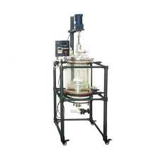 10l 20L Mixing Chemical Heating Or Cooling Double Jacketed Glass Reactor