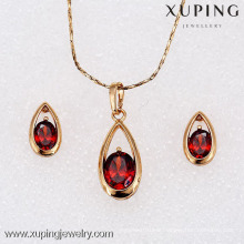 62302- Xuping New Design young girl gold jewelry sets wholesale