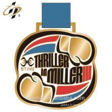 Superseptember en gros en alliage de zinc personnalisé médailles colorées de boxe sportive