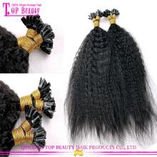Kinky straight U Tip Hair Popular Top Quality wholesale u tip hair extensions