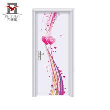 Puerta de dormitorio de madera de acero de estilo ecológico de calidad asegurada con calidad ecológica nueva