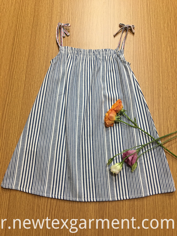 striped grapy girls dress
