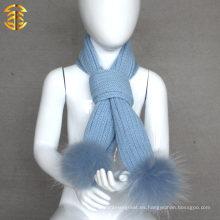 Bufanda linda del invierno del cabrito de las lanas del lecho del diseño de la manera al por mayor lisa