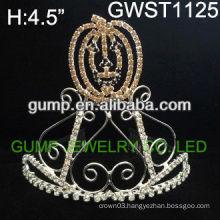 Attractive Halloween pumpkin pageant custom crystal tiara -GWST1125