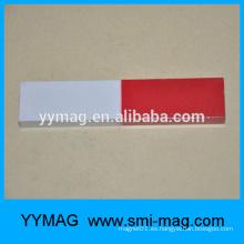 Alnico rojo y blanco pintado barra de imanes de educación