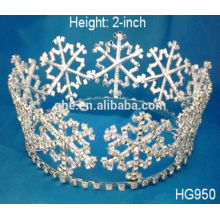 Anna tiara design adorável rosa rhinestone crianças princesa tiara tiara e coroa enviar a coroa