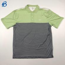 green black white threads printed polo shirt