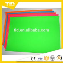 Fita fluorescente exterior do filme do vinil do sinal do PVC da alta qualidade