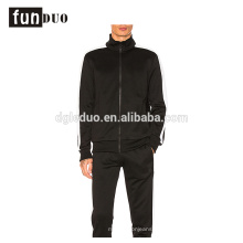 hombres deporte vestido negro corriendo conjuntos de abrigo y pantalón para niños hombres vestido deportivo negro corriendo conjuntos de abrigo y pantalón para niños