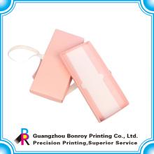 Популярная подгонянная печать розовый цвет упаковывать коробки подарка венчания