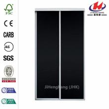 48 in. X 81 in. Concord Puerta corrediza interior de aluminio con paneles de pizarra