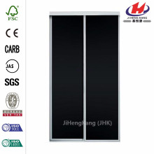 48 in. x 81 in. Concord White Aluminum Frame Interior Sliding Door with Chalkboard Panels