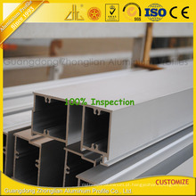 Perfis de alumínio anodizado da extrusão do ISO 9001 para a janela e a porta