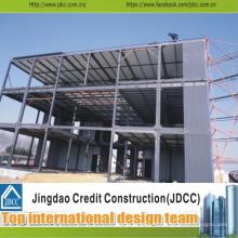 Conception de bureau de projet de structure en acier préfabriquée