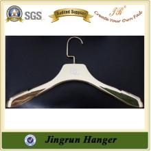 China Hanger Supplier Designer Gold Plastic Garment Hanger