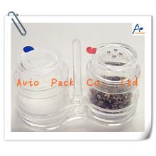 mini disposable plastic salt and pepper shaker