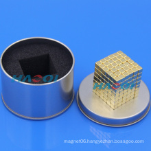 gold coating block shaped small magnets