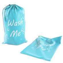 Custom Extra Large Natural Cotton Drawstring Storage Bag  Laundry Bag