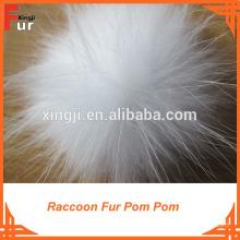 Fur Ball Keychain / Raccoon Fur Pom Poms