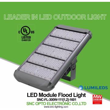 Mayor rendimiento de costos UL cUL listó 300W floodlight excelentes accesorios de iluminación al aire libre IP65 Mean Well controlador 5 años de garantía
