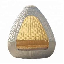 Hign quality wicker garden furniture outdoor rattan poolside nest shape chaise lounger