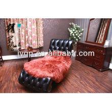 Wholesale Long Hair Mongolian Tibet Lamb Fur Blanket