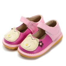 Nette Baby-Katze-quietschende Schuhe handgemachtes weiches