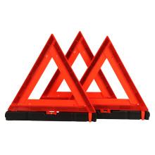 3 unidades / conjunto de sinal de aviso de triângulo de carro de triângulo de advertência