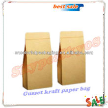 Folha de papel Kraft forrado de café e saquinhos de chá (saco de alimentos recicláveis) com válvula