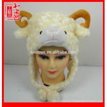 Cabeza de animal de dibujos animados en forma de gorro de felpa sombrero de felpa animal para niños