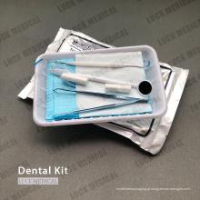 Kit de exame de instrumentos odontológicos descartáveis