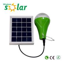 Fábrica por atacado Mini portátil Solar Powered Led luz