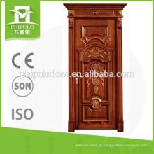 Porta de madeira interior de produto novo com cabeça de porta