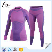 Female Outdoor Purple Seamless Underwear Set