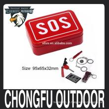 2016 portátil SOS kits de sobrevivência de camping auto-ajuda de emergência caixa de ferramentas de artes set atacado quente