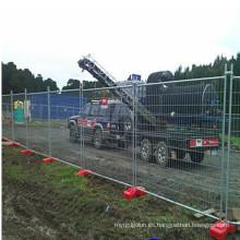 Valla temporal galvanizada portátil para el sitio de construcción