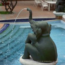 Fonte de bronze do jardim do elefante da alta qualidade para a venda