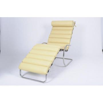 Chaise longue regolabile MR in pelle