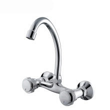 Verchromter Swan Neck Kitchen Sink Wasserhahn