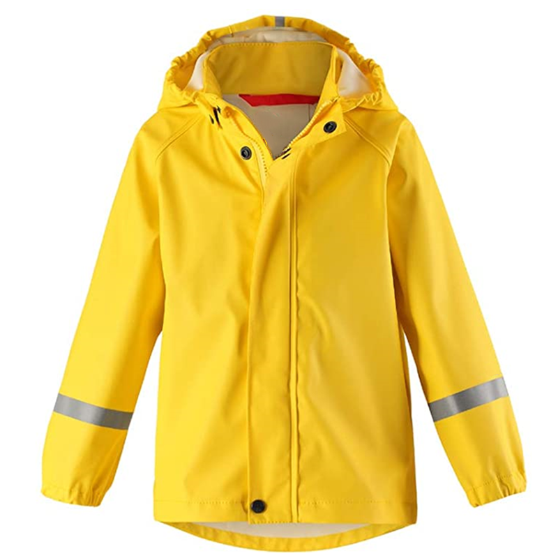 Kids Waterproof Hooded Rain Jacket Lightweight Windproof Outdoor Coat For Kids2