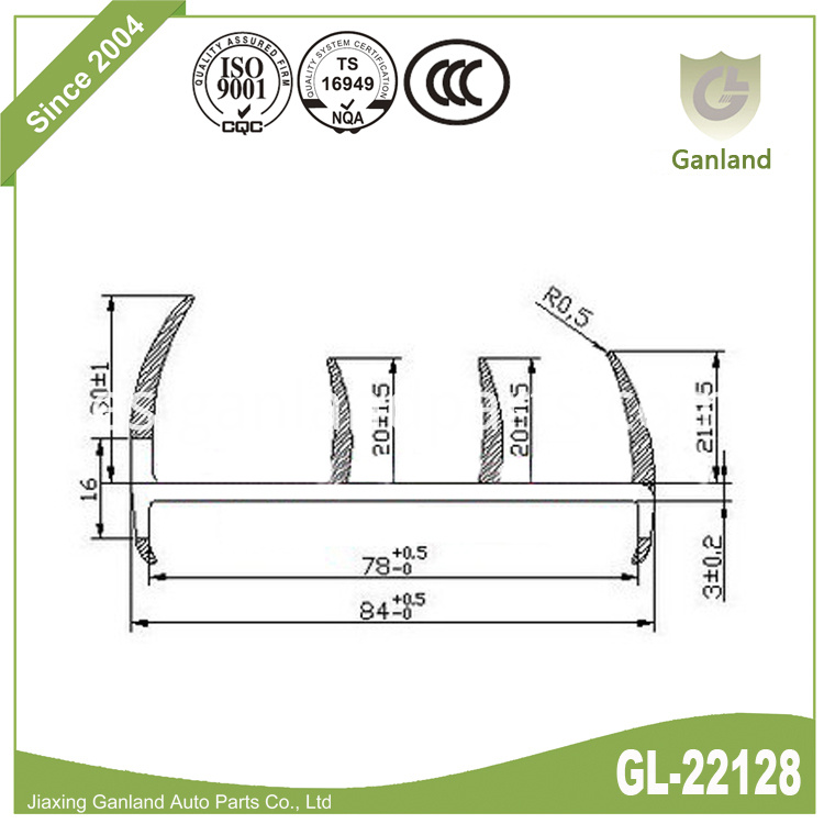Shipping Container Door Gasket gl-22128
